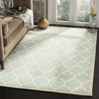 Safavieh Handmade Moroccan Chatham Grey Wool Geometric Area Rug (3' x 5') - 3' x 5'