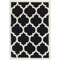 Safavieh Handmade Moroccan Black Wool Rug with Canvas Backing - 3' x 5'