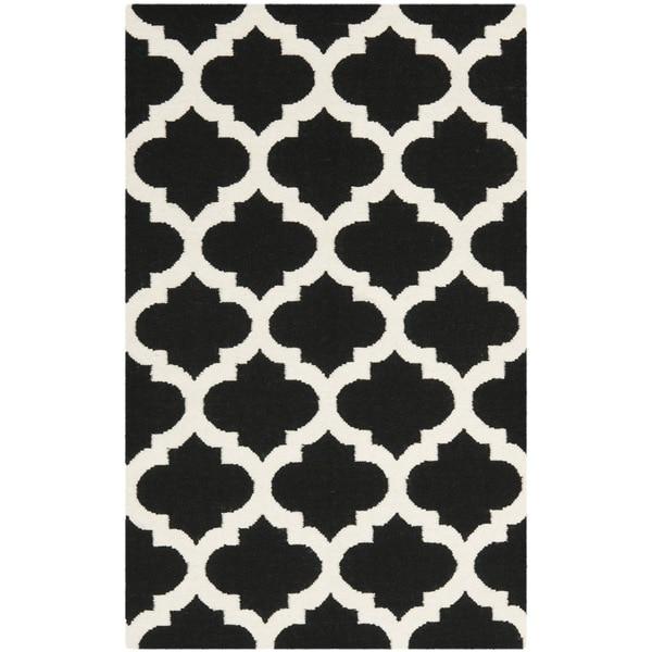 Shop Safavieh Hand-woven Moroccan Reversible Dhurrie Black