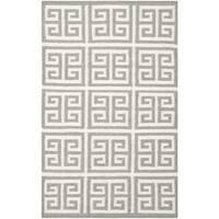 Safavieh Hand-woven Moroccan Reversible Dhurrie Grey Wool Rug - 2'6 x 4'