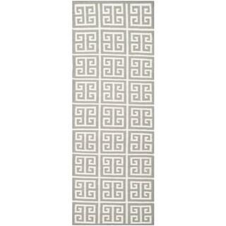 Safavieh Hand-woven Moroccan Reversible Dhurrie Grey Wool Rug (2'6 x 7')