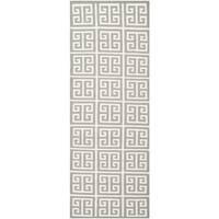 Safavieh Hand-woven Moroccan Reversible Dhurrie Grey Wool Rug - 2'6 x 7'
