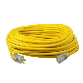 50' SJTW YLJKT Lighted End Extension Cord
