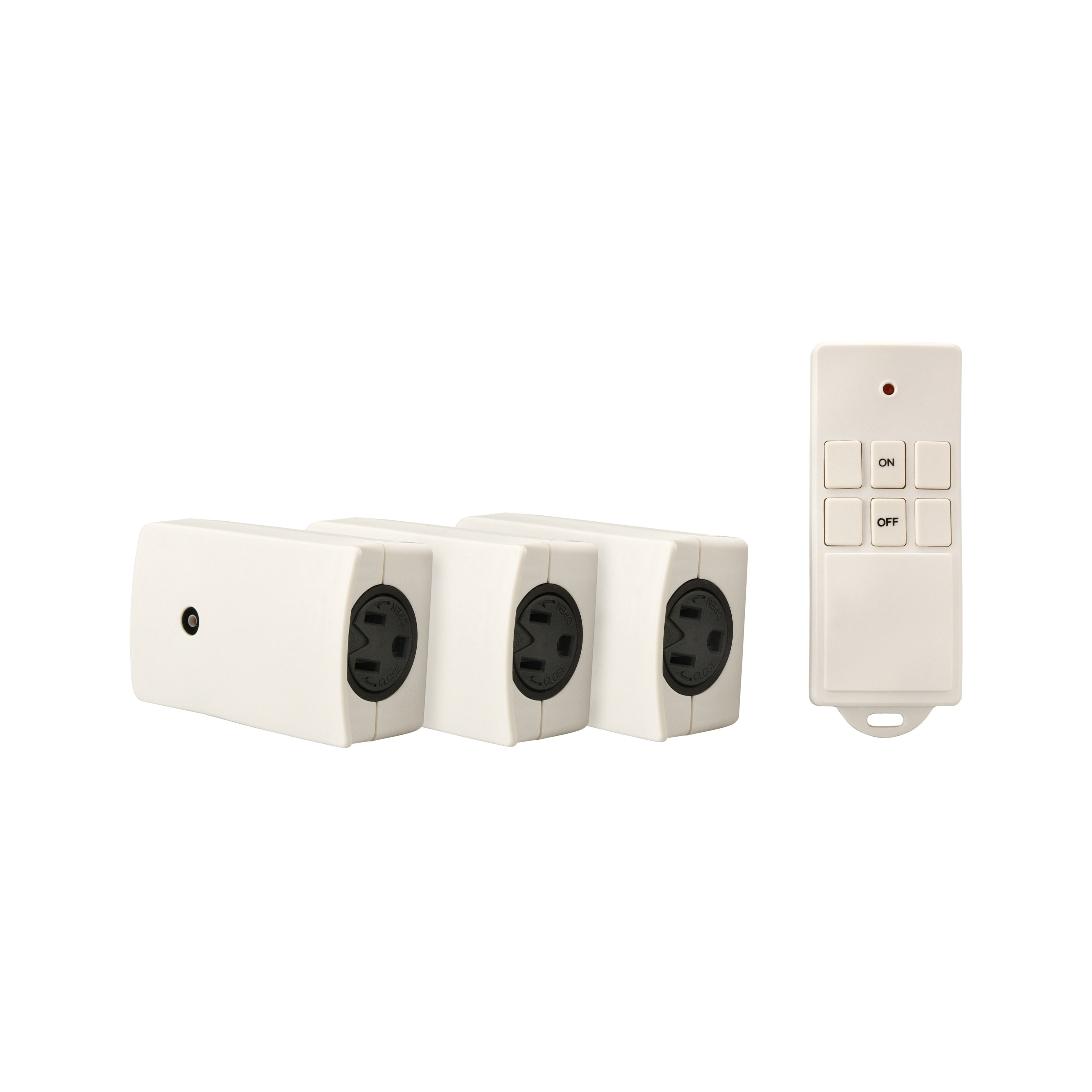 Coleman Cable Systems Indoor Wireless Remote, 3-Pack, White