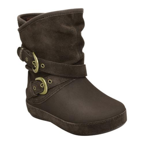 cf2242cb2 Shop Girls  Crocs Berryessa Suede Buckle Boot Espresso - Free Shipping  Today - Overstock - 8091482