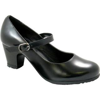 Women's Genuine Grip Footwear Mary Jane Black Leather