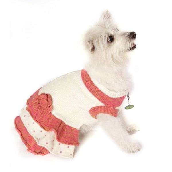Wufwear Ruffled Dog Sweater Dress