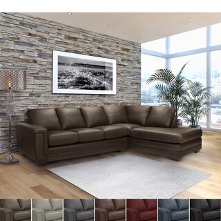 Porsche Chocolate Brown Italian Leather Sectional Sofa