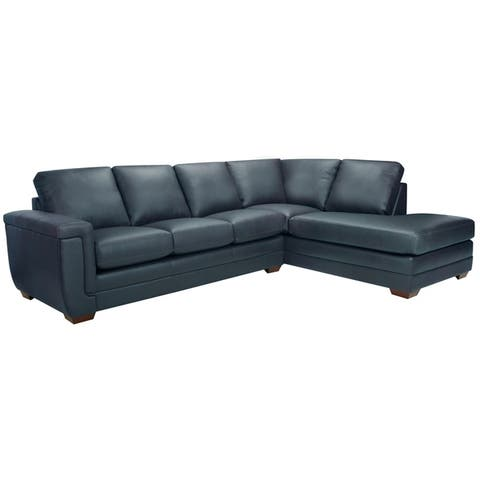 Buy Blue, Leather Sectional Sofas Online at Overstock | Our Best ...