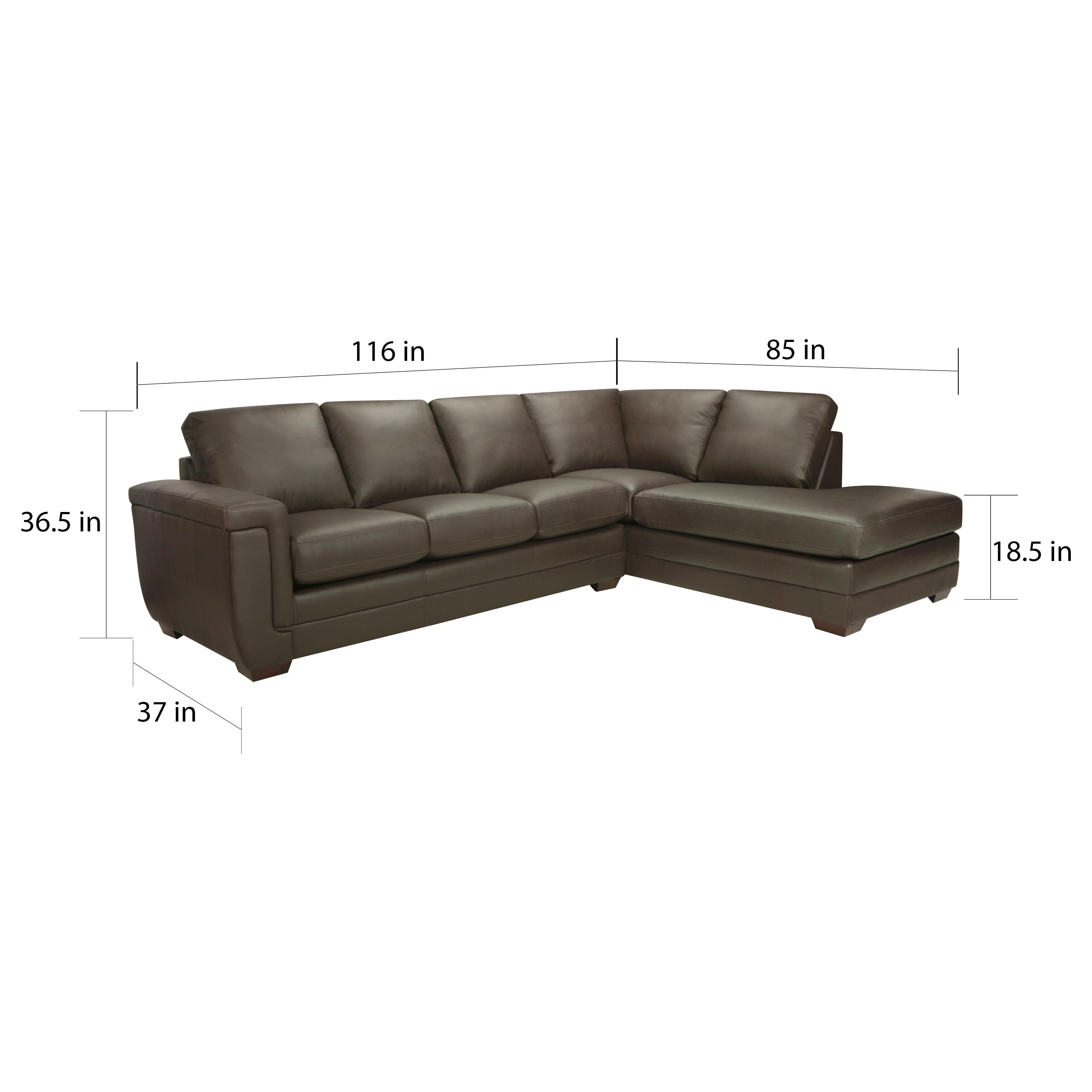- Shop Porsche Top Grain Italian Leather Sectional Sofa - 36.5 X 116