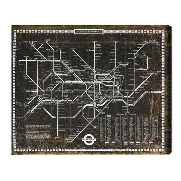 Oliver Gal 'London Tube 1972' Fine Art Canvas
