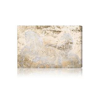 Oliver Gal 'Gold Equestrian' Fine Art Canvas