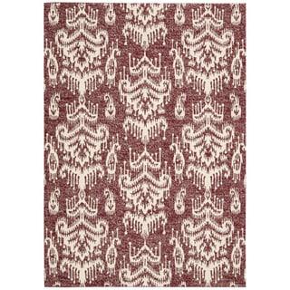 Barclay Butera Kaleidoscope Crimson Area Rug by Nourison (9'6 x 13')
