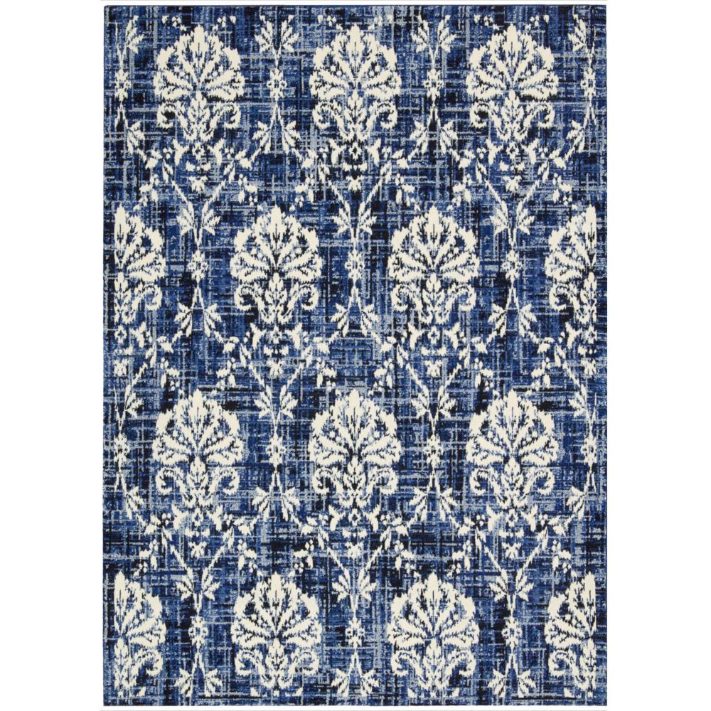 Barclay Butera Kaleidoscope Chambray Area Rug by Nourison (96 x 13) - 96 x 13 (96 x 13 - Blue/White)