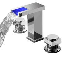 Sumerain Widespread LED Waterfall Basin Faucet - Chrome