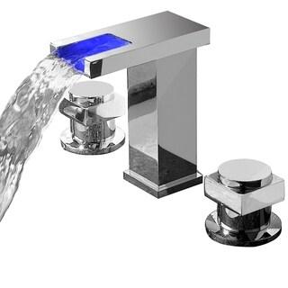 Sumerain Widespread LED Waterfall Basin Faucet - Chrome