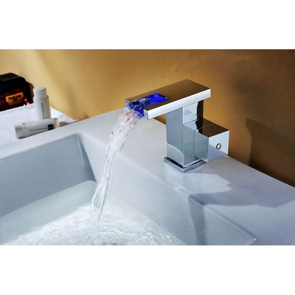 Sumerain Single Lever LED Thermal Waterfall Faucet - Free Shipping ...