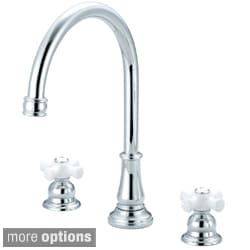 Pioneer Brentwood Series Two-Handle Kitchen Three Hole Mount Widespread Faucet