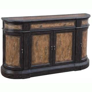 Hand-painted Distressed Brown Finish Credenza