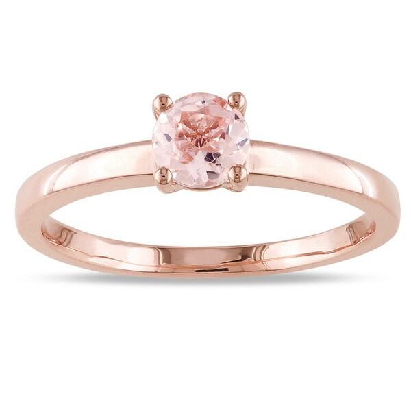 Diamond Rings For Sale Cheap: Shop Miadora 10k Rose Gold Morganite Solitaire Ring