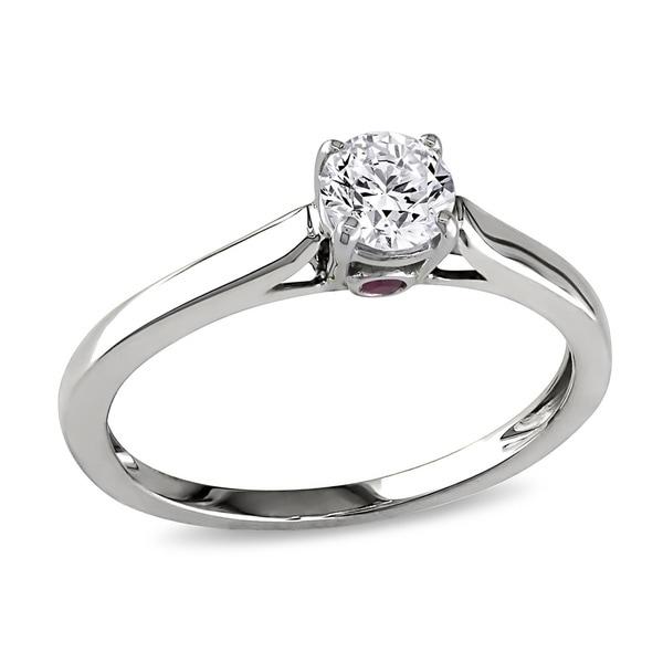 Miadora Signature Collection 14k White Gold 1/2ct TDW Diamond Engagement Ring (G-H, I1-I2)