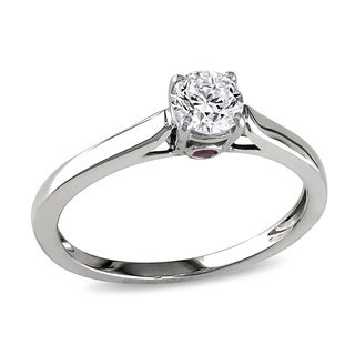 Miadora Signature Collection 14k White Gold 1/2ct TDW Diamond Engagement Ring (G-H, I1-I2)