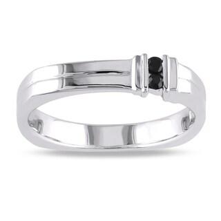 Miadora Sterling Silver Men's Sapphire Ring