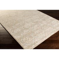 Modern Classics Hand-tufted Contemporary Natural Geometric Area Rug - 9' x 13'