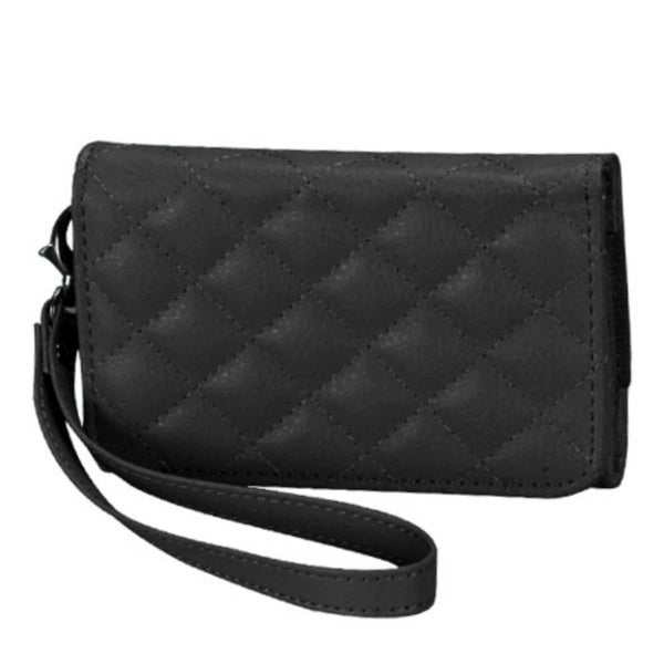 INSTEN Black Quilted Wallet Phone Case Cover for Apple iPhone 4/ 4S