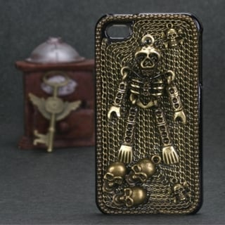 INSTEN Bronzed Skeleton 3D Diamante Phone Case Cover for Apple iPhone 4/ 4S