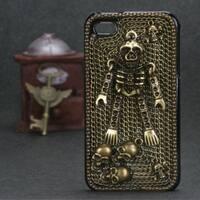 INSTEN Bronzed Skeleton 3D Diamante Phone Case Cover for Apple iPhone 4/ 4S