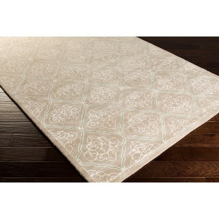 Modern Classics Hand-tufted Contemporary Natural Geometric Rug (8' x 11')