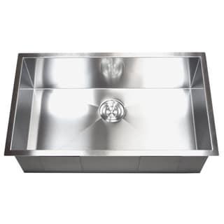 Stainless Steel Single Zero Bowl Undermount Kitchen Sink