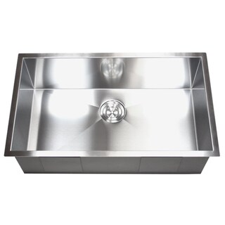 Stainless Steel Single Zero Bowl Undermount Kitchen Sink (Option: 30)
