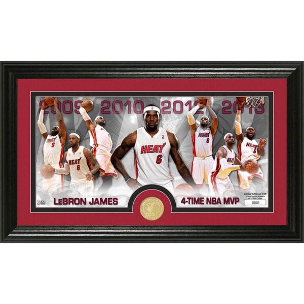 Lebron James MVP Bronze Coin Panoramic Photo Mint