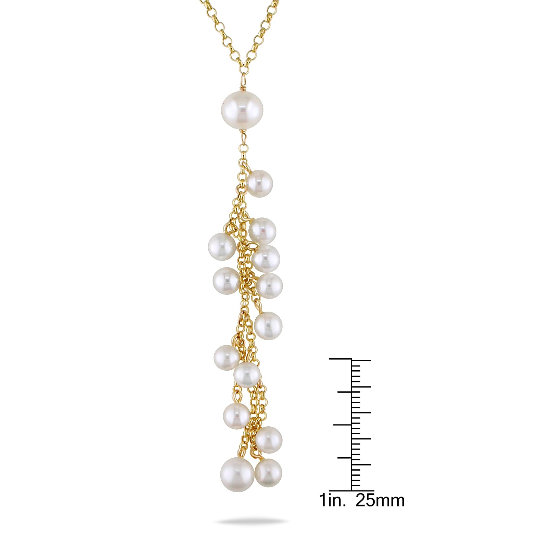 """100/"""" 6-8mm White Off Round Freshwater Pearl Necklace Strands Jewelry"""