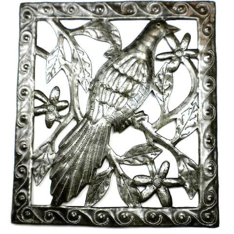 Handmade Bird Metal Wall Art (Haiti)