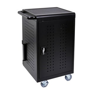 Luxor Black 30 Deskt Charging Cart