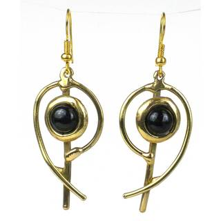 Handmade Onyx Note Earrings (South Africa)