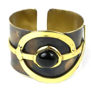 Handcrafted Onyx Note Cuff (South Africa)