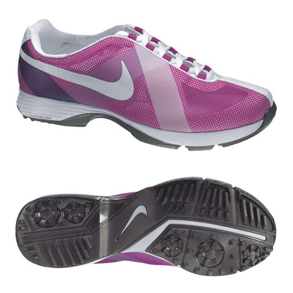 new style fc666 1d138 Shop Nike Women s Lunar Summer Lite Magenta   White  Navy Golf Shoes - Free  Shipping Today - Overstock - 8093537