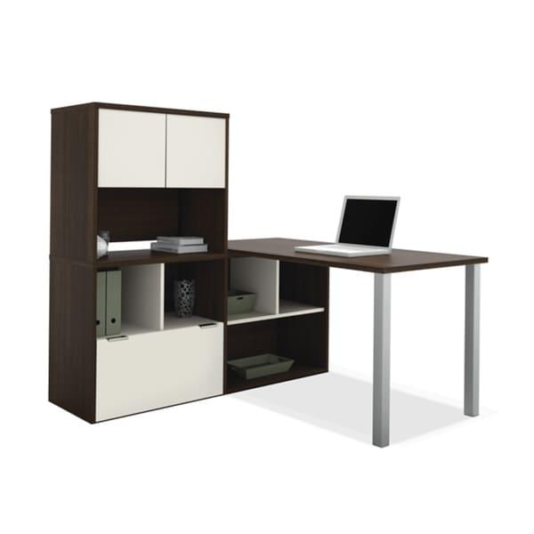 Bestar Contempo L Shaped Desk / Storage Unit