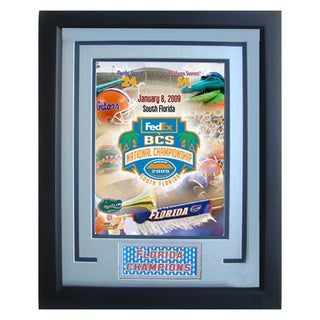 Florida Gators BCS Fedex National Championship Logo Photograph