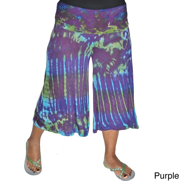 9a9a8a40e2d5 Shop Tie Dye Flare Yoga Pants (Nepal) - Free Shipping On Orders Over ...