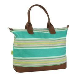 Women's Amy Butler Meris Duffle Bag Flatweave Stripe Emerald