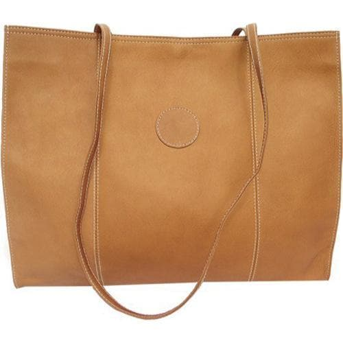 Women's Piel Leather Carry All Market Bag 2507 Saddle Leather