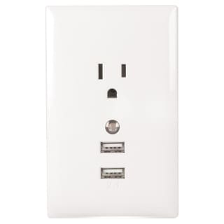 RCA USB Wall Plate Charger and Nightlight