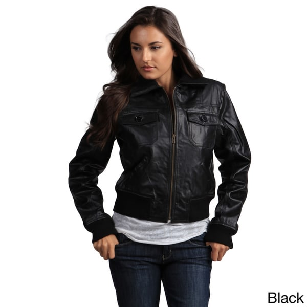 Tanners Avenue Women's Genuine Leather Bomber Jacket - Free ...