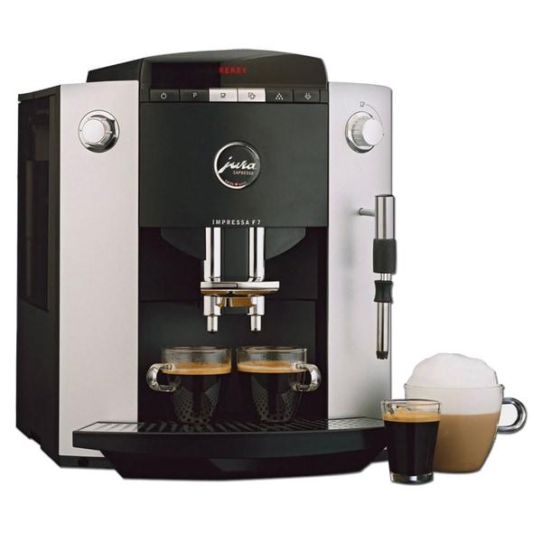 jura capresso 39 impressa f7 39 silver metallic espresso machine refurbished free shipping today. Black Bedroom Furniture Sets. Home Design Ideas