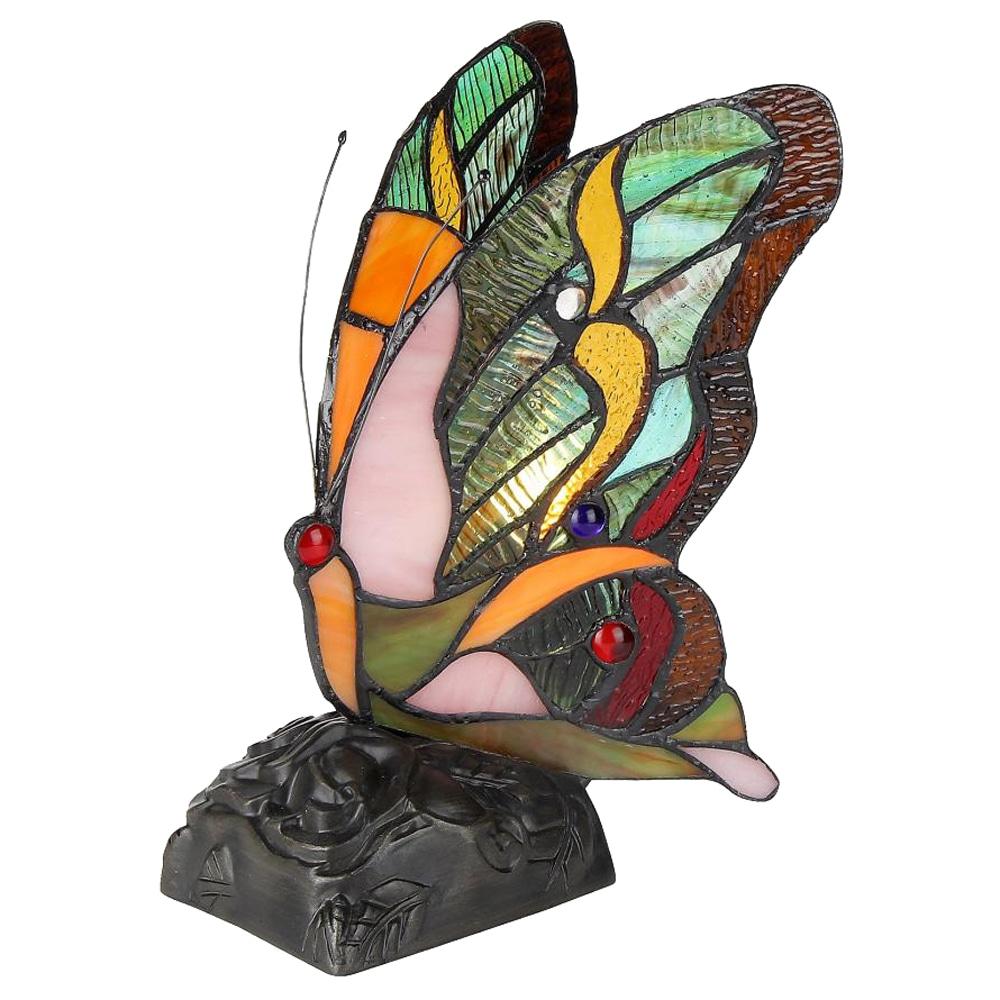 Chloe Tiffany Style Butterfly Design 1-light Nightlight, ...